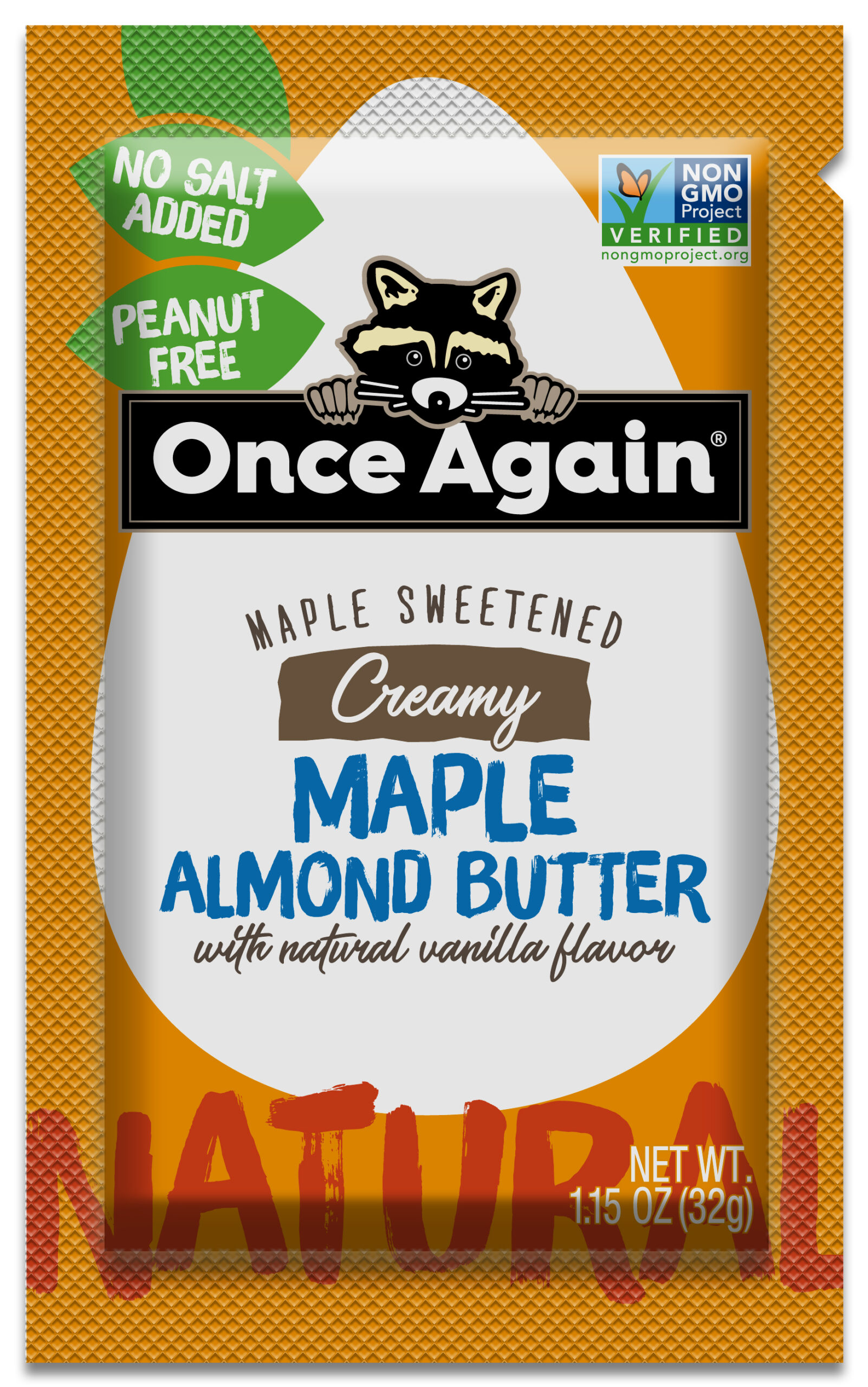 Maple Almond Butter Squeeze packs